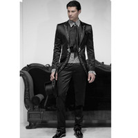 best mens dress pants - 2015 Black Business gentleman groom wedding tuxedo suit piece Prom dress Tailcoat jacket pants Belt tuxedos best mens suits