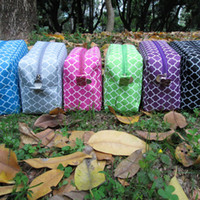 Wholesale Ready In Stock Ladies Makeup Bag Quatrefoil Design Cosmetic Bags Wit Various Colors Are Available DOM106011