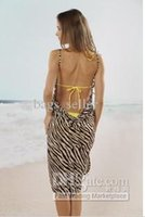 Wholesale Summer Suspender Skirt Braces Skirt Sarong Brown Zebra Style Free Shpping J4