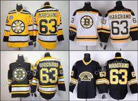 Wholesale Men s Boston Bruins Brad Marchand ice Hockey Jerseys home black white gold winter classic stitched size S XXXL
