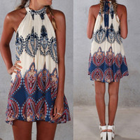silk dress - 2016 Dress For Women BOHO Ladies Sleeveless Party Tops Womens Summer Beach Swing Dress women s dresses UK SIZE Dresses