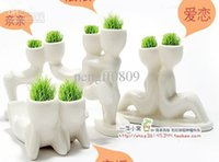 Wholesale Creative cute Hair man X lover Plant Bonsai Grass Doll Mini Fantastic Home Decoration
