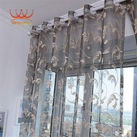 Wholesale Wavors Perspective Curtain for Living Room Bedroom European Style Clear Classical Tulle Window Screens Balcony Curtain