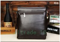 Wholesale 2 styles hot sale men bags men genuine leather messenger bag high quality man brand business handbag price Briefcases C1277