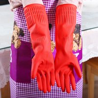 Wholesale 1 Pair Rubber Latex Dish Washing Cleaning Long Gloves Household Kitchen Glove quot cm