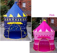 Wholesale Children Kids Castle Cubby Play House Girl Boy Portable Pink Folding Play Tent Princess Castle Fairy Cubby Cute House