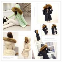 nylon polyester satin ribbon - Winter Women s Jacket Coat Thicken Slim Female Fur Collar Long Down Coat Casual Parka Mixed order