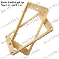 Wholesale 10 Cream Plastic Flat Electric Guitar Humbucker Pickup Ring Frame Mounting Ring Neck bridge Pickup Ring mmx4mm