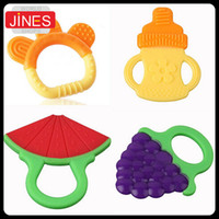 Wholesale 2PCS Glister Baby Kid Infant Safety Teeth Stick Training Teether Rear Molar Silicone Fashion Fruit Toddler Healthy Tools