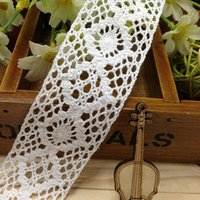 Wholesale 2015 Vintage Style Cotton White Sewing Crochet Scallop Lace Embroidered Trim Stretch Clothing Border Trim Craft