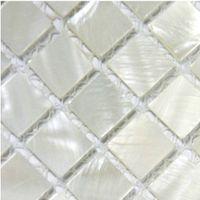 Wholesale Mosaics white Mother of Pearl tile backsplash kitchen in squared bathroom flooring wall mirror design mesh x12 shell tile