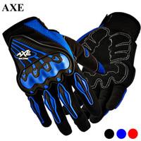 motorbike gloves - AXE Full Finger Guantes Motorcycle Gloves Motorbike Gants Guanti Luva Moto Motocicleta Motocross Gloves Red Blue Black M L XL