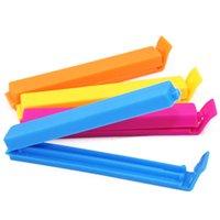 Wholesale Top Seller set Food Sealed Clips Magic Bag Sealer Sealing Clamp Plastic Mixed Color JH57