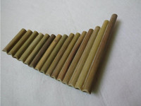 Wholesale Sax Alto Harmonica Panflute Pipes Natural Bamboo Wind Instrument Panpipe G Key Flauta Xiao Handmade Pan Flute Folk Musical Instruments