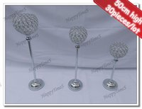 acrylic bar tops - 30pcs Wedding Center Piece Candle Holder cm High Crystal Candlestick Glass Ball On The Top