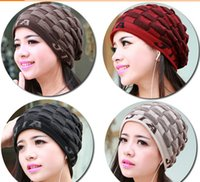 active decks - Fashion Beanie women s caps double deck leyo keep warm knitted hats foir new style via FedEx ship
