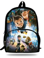 astro bags - 16 inch Children Cartoon Bag Astro Boy Backpack For Teenagers Printing Kids School Bags For Boys Mochila Escolar Menino