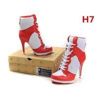 Wholesale DISCOUNT Original Women Sport High Heel Shoes Womens Max High Heel Shoe Lady Basketball Shoes High Heels Cushion red white