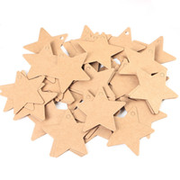 Wholesale 50 Kraft Paper Tags Star Shape Hang Pricing Label Sign Gift Tag Etiquetas Boda Etiquetas Kraft x6cm Black Yellow