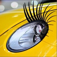 Car Eyelashes automobile oil change - 2 False Eyelash Stickers Decorative Car Lights External Parts Eyelash Automobiles Motorcycles Headlight Decals Eyelash