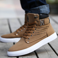 Cheap 2014 Hot Men Shoes Sapatos Tenis Masculino Male Fashion Spring Autumn Leather Shoe For Men Casual High Top Shoes Canvas Sneakers