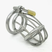 Chastity Cage alternative metal supply - Male Chastity Belt Stainless Steel Metal Chastity Device Alternative Stimulus Sex Supplies Hottest Adult Sex Toys For Men