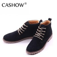 band wedge boots - New Fashion British Mens Casual Lace Suede Ankle Boots Shoes high top men footwear plus size color LS035