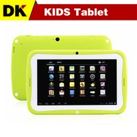 Wholesale Hot new Kids Gift Inch Kids Tablet PC Android RK3026 Dual Core GB IPS Screen piex Dual Cameras children tablets