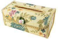 bamboo borders - Flower Border Natural Fresh Bamboo Tissue Box Holder Cover Random Color Medium Size