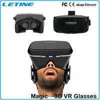 Wholesale New D Glasses D Movies Games Head mounted Virtual Reality VR With Resin Lens For iphone s plus s plus Samsung