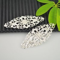 filigree jewelry findings - Finding Pop Silver Plated Filigree Flower Wraps Connector x3 cm DIY Jewelry Making
