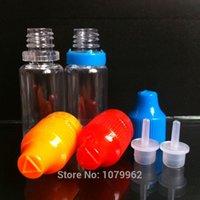 Wholesale Empty PET ML Plastic Dropper Bottles with tamper childproof cap long thin tip ml eliquid bottle