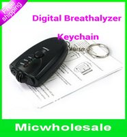 Wholesale Mini portable Keychain breathalyzer Alcohol tester alcohol testing the Breath Digital Analyzer LCD light