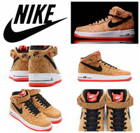 air force ones - Nike Air Force Mid Cork Men Sports Skateboarding Shoes Cheap Nike Air Force one AF1 Wooden Shoes size