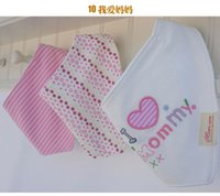 Wholesale 2015 New Arrival Cotton cartoon Baby Bandages Triangle Bibs Children Snap Bibs Mom s Care Bibs
