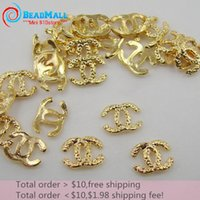 brand name jewelry - Min order pack D Nail Art Decorations Gold Metal Brand Name Fashion Nails Art Glitter Jewelry for Nail Art Studs DIY