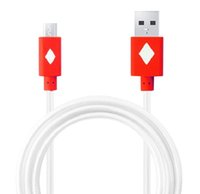 Wholesale Led Visible Micro USB Cable M ft Sync Charger Cable Round Flat Cables for Samsung Galaxy S5 Note HTC Etc Android Model Phones