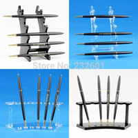 Wholesale Plastic Pencil Pen Cosmetic Brush Display Stand Holder For