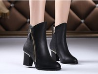 ankle boot pumps - New Fashion Women s Ankle Short Boots High heels Platform Pumps Shoes Winter Warm Snow Boots For women NXZ152