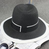 natural straw hat - A new style Ms natural straw finalize fedoras cap summer sunshade straw hat