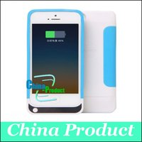 For Samsung Drop Shipping Hot Selling Soft TPU Silicon Power Bank 2200mah Battery Backup Charger Case Emergency Power Charger for iphone 5s 5 four Colors 002531
