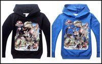 big boy coat - 2015 boys Jurassic World long sleeve hoodies kids boy cartoon printing hooded coat big boys autumn hoodie clothes J071405