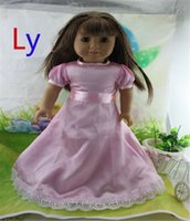 Wholesale New Arrival Party Gifts For Children Girls Dolls Clothes Accessories Fashion Pink Dress For American Girl Dolls DD034