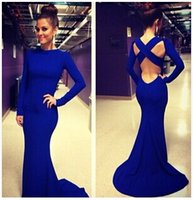 Strapless dressing and bandages - 2015 the new fashion long sleeve wedding dress sexy party in Europe and America bandage sexy cultivate one s morality evening dress