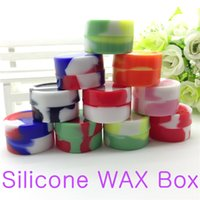 Wholesale silicone wax box Wax Containers vaporizer jars container for wax silicone jars dab wax container for glass water atomizer vhit cloupor m3 m4