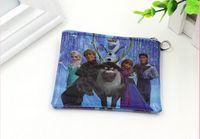 bag button - Girls D Cartoon Frozen Coin Purse with iron button Anna Elsa Olaf shell bag wallet Purses children Gifts