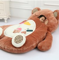 al por mayor sofá de felpa suave-Dorimytrader Animal Beanbag Gigante relleno Soft peluche cama de dibujos animados alfombra Tatami colchón sofá 3 modelos con 2 tamaños envío gratuito DY60497