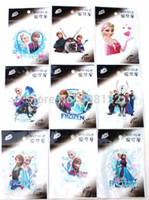 Wholesale Hot sheet Cartoon Children s Frozen Princess DIY the iron on Patches iron Stickers on Transfers birthday gift