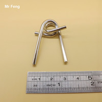 Wholesale Backhand Metal Ring Puzzles IQ Brain Teaser Test Toy Gift Educational Game For Children