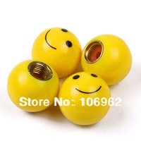 automotive parts china - GPS Smile Face Tire Valve Caps Car Tyre Valve Cover Motorcycle Automotive Decoration Tunning Parts China Post